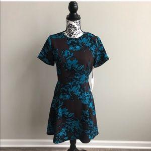 NWT! Floral Short Sleeve Dress